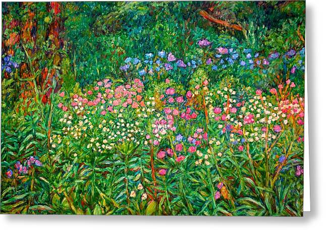 Greeting Card featuring the painting Wildflowers Near Fancy Gap by Kendall Kessler