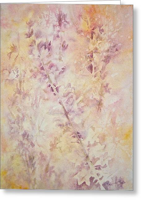 Greeting Card featuring the painting Wildflowers Three by Carolyn Rosenberger
