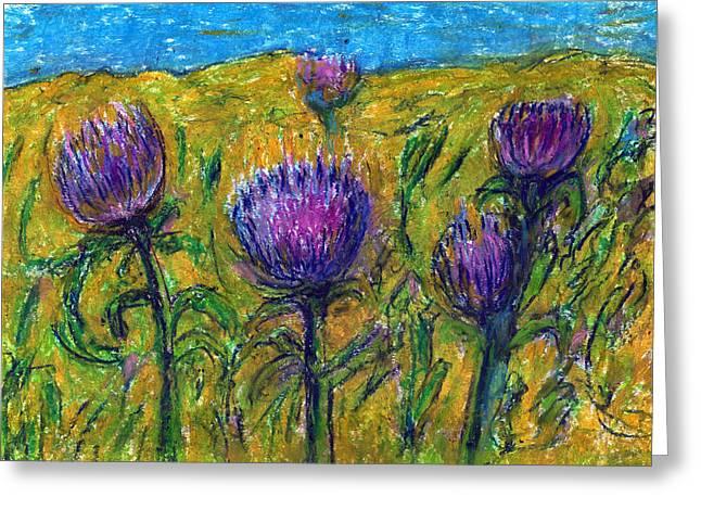 Wildflowers Greeting Card by Yuri Lushnichenko