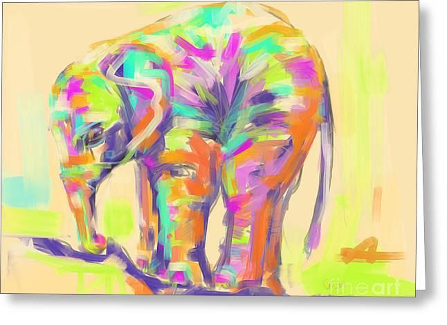 Wildlife Baby Elephant Greeting Card