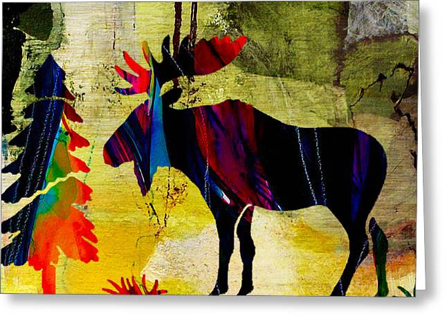 Wildlife Moose In Nature Greeting Card by Marvin Blaine