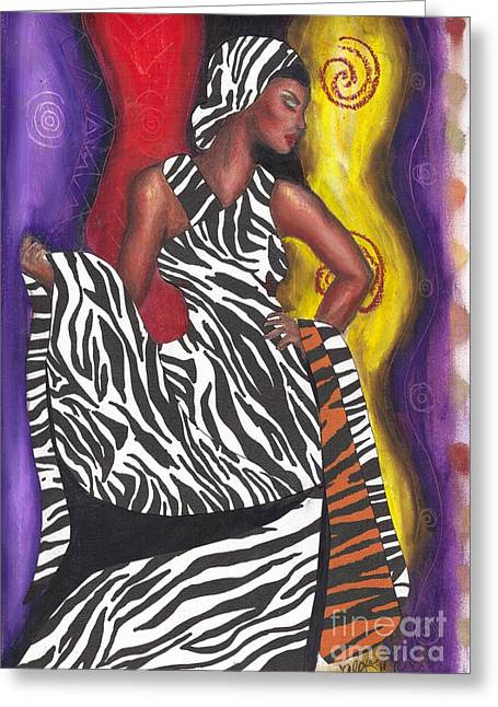 Greeting Card featuring the mixed media Wildly Sophisticated by Alga Washington