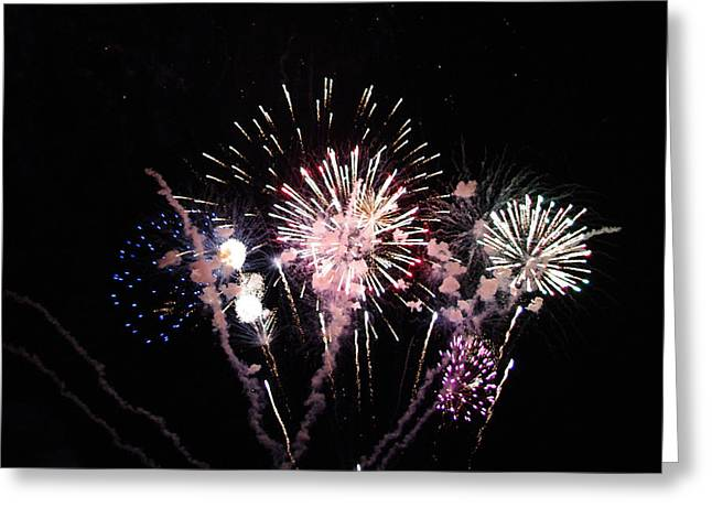 Greeting Card featuring the photograph Wildwood Fireworks by Greg Graham