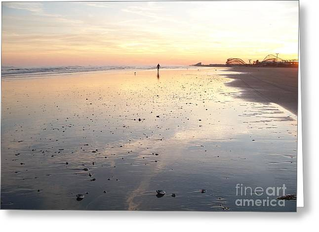 Wildwood Surfer Greeting Card by Eric  Schiabor