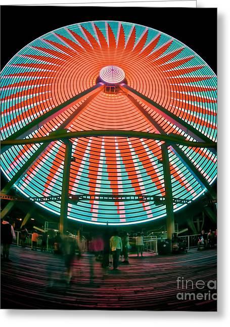 Wildwood's Giant Wheel Greeting Card by Mark Miller