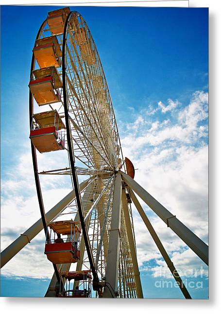 Wildwood's Wheel Greeting Card by Mark Miller