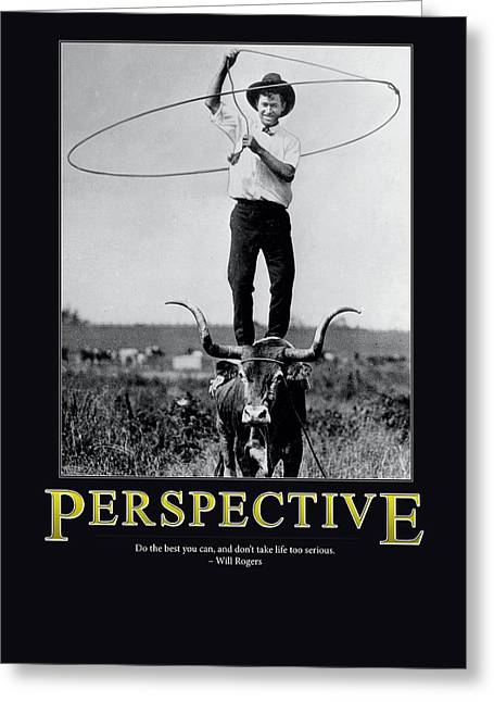 Will Rogers Perspective Greeting Card by Retro Images Archive