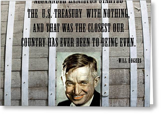 Will Rogers Quote Greeting Card by Barbara Snyder