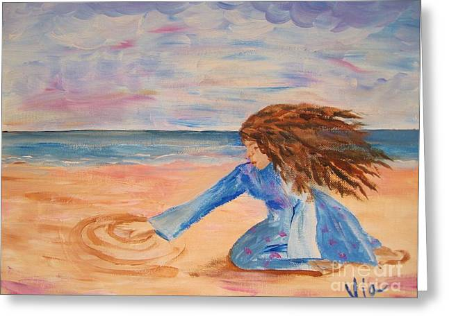 Will She Still Have Dreams Greeting Card by Judy Via-Wolff