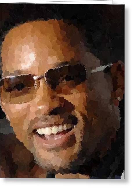Will Smith Portrait Greeting Card