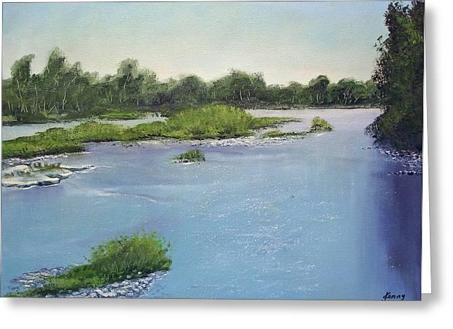 Willamette River Greeting Card