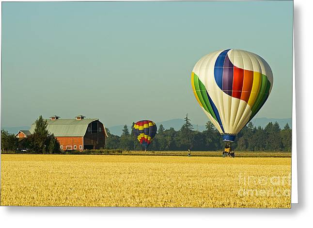 Greeting Card featuring the photograph Willamette Valley Ballooning by Nick  Boren