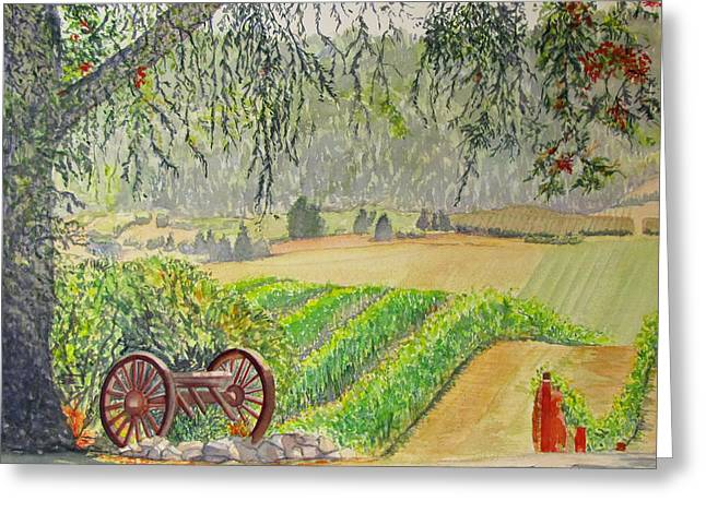 Willamette Valley Winery Greeting Card