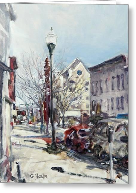 Willamsport Streetscape Winter Greeting Card