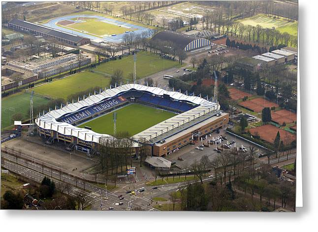 Willem 2 Stadion, Tilburg Greeting Card by Bram van de Biezen