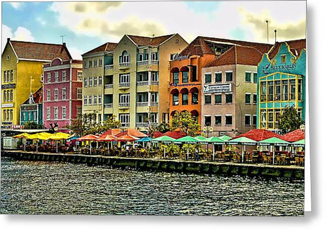 Willemstad - Curacao Greeting Card by Jon Berghoff