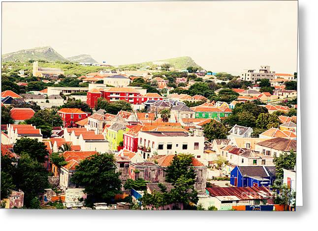 Willemstad Curacao Greeting Card by Kim Fearheiley