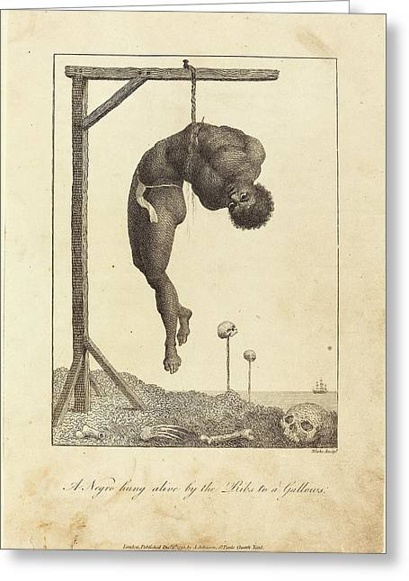 William Blake After John Gabriel Stedman British Greeting Card by Quint Lox