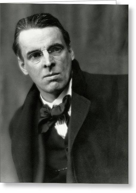 William Butler Yeats Wearing A Bowtie Greeting Card by Arnold Genthe