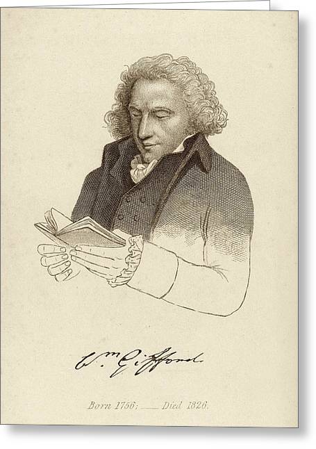 William Gifford Greeting Card by Middle Temple Library
