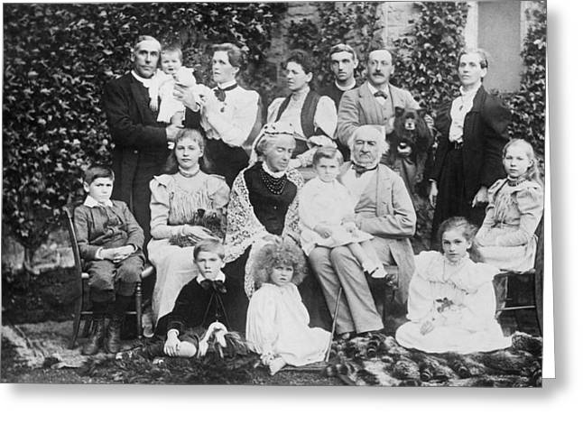 William Gladstone With Family Greeting Card