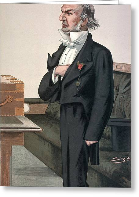 William Gladstone (1809-1898) Greeting Card by Granger