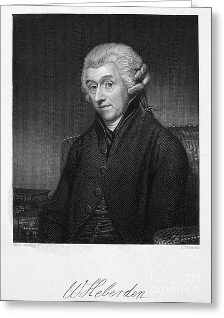 William Heberden (1710-1801) Greeting Card by Granger