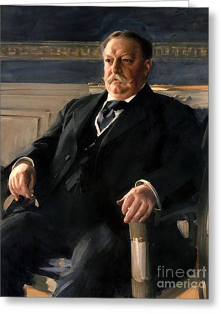 William Howard Taft Greeting Card by Anders Zorn