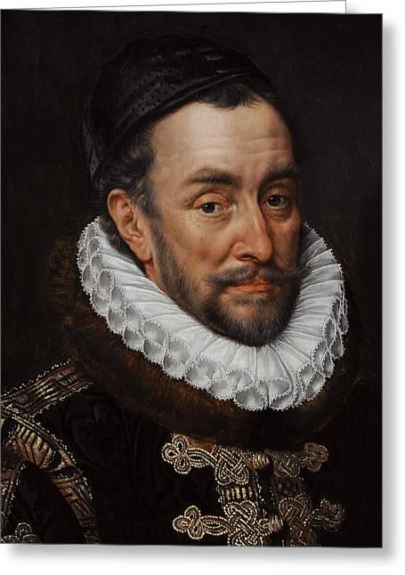 William I, Prince Of Orange 1533-1584, C. 1579, By Adriaen Thomasz Key C.1544-1589 Greeting Card