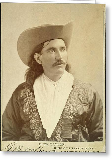 William Levi 'buck' Taylor (1857-1924) Greeting Card by Granger