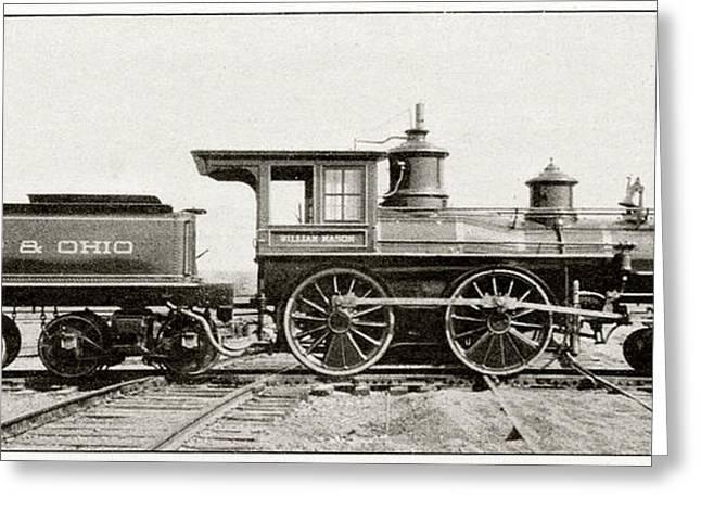 William Mason Locomotive Greeting Card