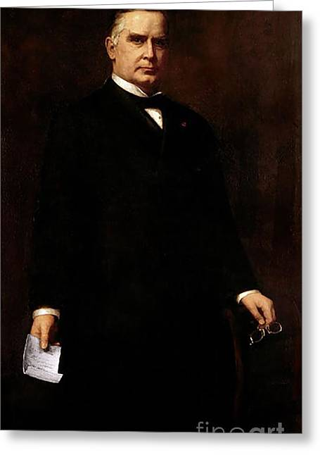 William Mckinley Greeting Card by August Benziger