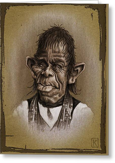 William Not Man Greeting Card by Andre Koekemoer