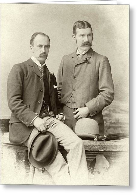 William Osler And Ramsay Wright Greeting Card by National Library Of Medicine