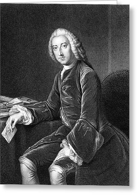 William Pitt - The Elder  1st Earl Greeting Card by Mary Evans Picture Library