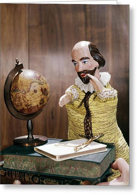William Shakespeare Hand Puppet Greeting Card