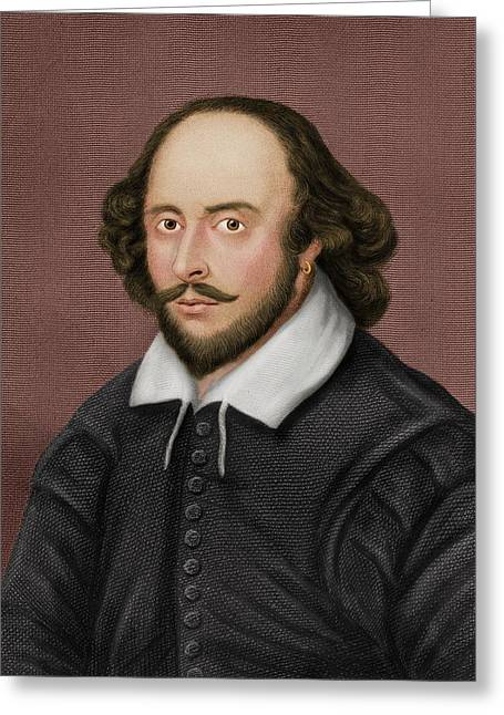 William Shakespeare Greeting Card by Maria Platt-evans