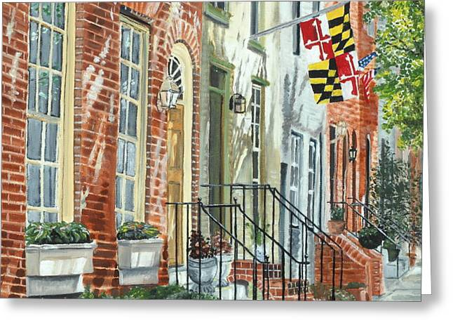 William Street Summer Greeting Card by John Schuller