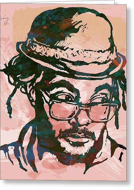 Will.i.am - Stylised Etching Pop Art Poster Greeting Card