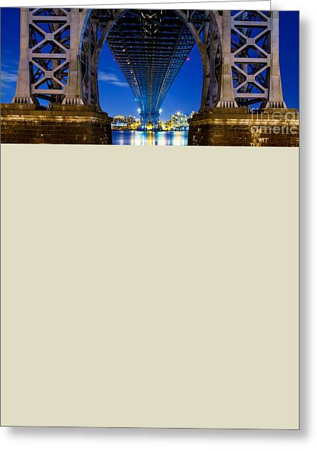Williamsburg Bridge 4 Greeting Card by Az Jackson