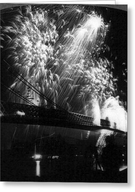 Williamsburg Bridge, C1904 Greeting Card by Granger