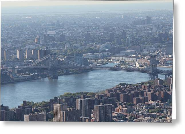 Greeting Card featuring the photograph Williamsburg Bridge by David Grant