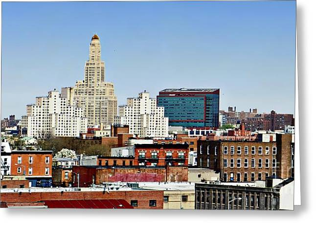 Williamsburg Savings Bank In Downtown Brooklyn Ny Greeting Card