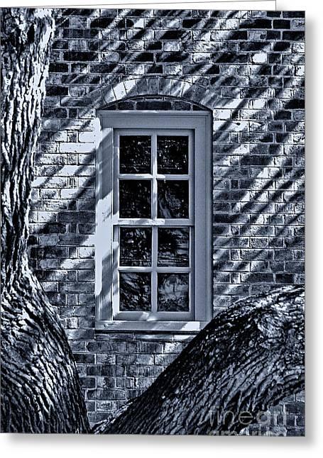 Greeting Card featuring the photograph Williamsburg Window by Nigel Fletcher-Jones