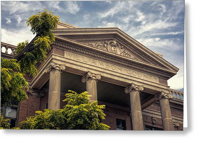 Williamson County Courthouse Greeting Card by Joan Carroll