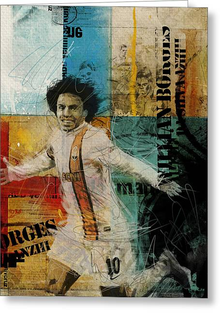 Willian Borges Di Silva - B Greeting Card by Corporate Art Task Force