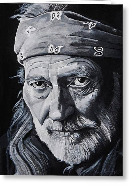 Willie  Greeting Card by Brian Broadway