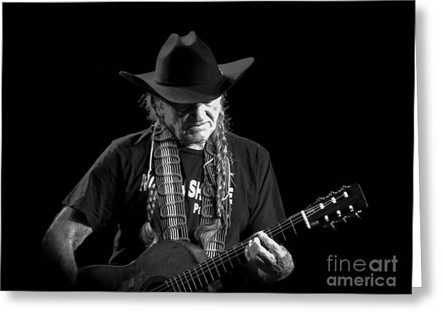 Willie Nelson Greeting Card by David Rucker
