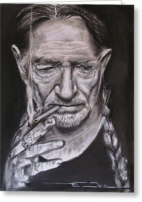 Willie Nelson - Doobie Brother Greeting Card by Eric Dee