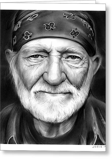 Willie Nelson Greeting Card by Greg Joens